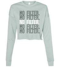 Load image into Gallery viewer, dusty blue no filter cropped sweatshirt