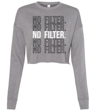 Load image into Gallery viewer, grey no filter cropped sweatshirt