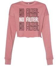 Load image into Gallery viewer, mauve no filter cropped sweatshirt