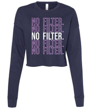 Load image into Gallery viewer, navy no filter cropped sweatshirt