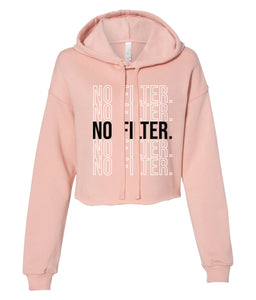 peach no filter cropped hoodie