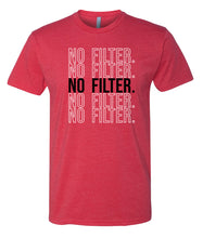 Load image into Gallery viewer, red no filter crewneck t shirt