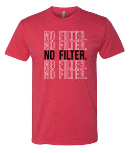 red no filter crewneck t shirt