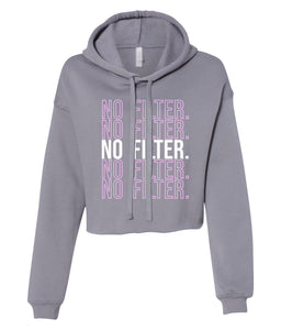 grey no filter cropped hoodie