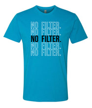 Load image into Gallery viewer, turquoise no filter crewneck t shirt