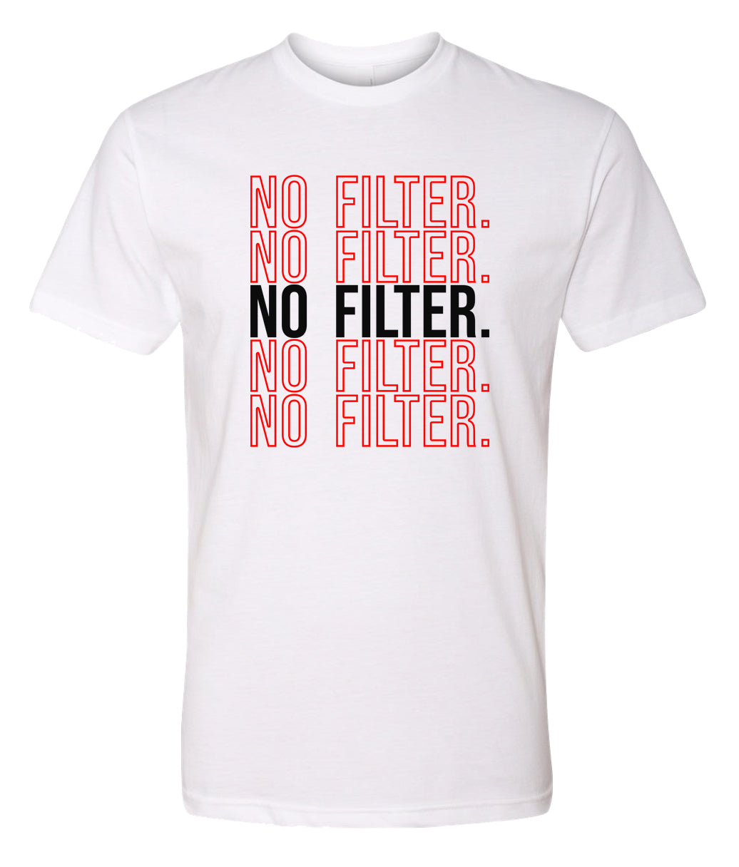 white no filter crewneck t shirt