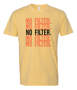 yellow no filter crewneck t shirt