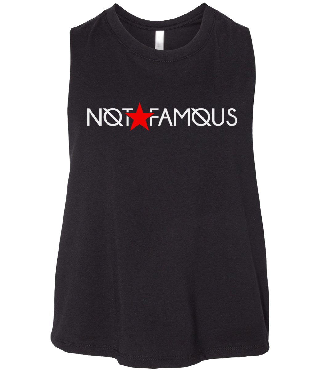 black not famous cropped tank top