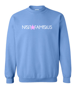 blue not famous sweatshirt