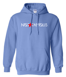 blue not famous hoodie