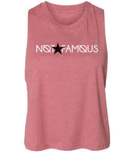 mauve not famous cropped tank top