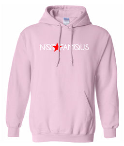 pink not famous hoodie