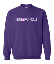Load image into Gallery viewer, purple not famous sweatshirt