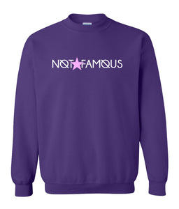 purple not famous sweatshirt