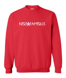 red not famous sweatshirt