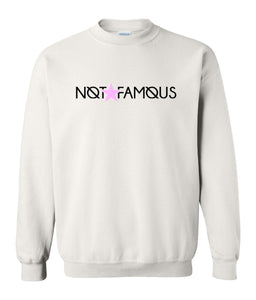 white not famous sweatshirt