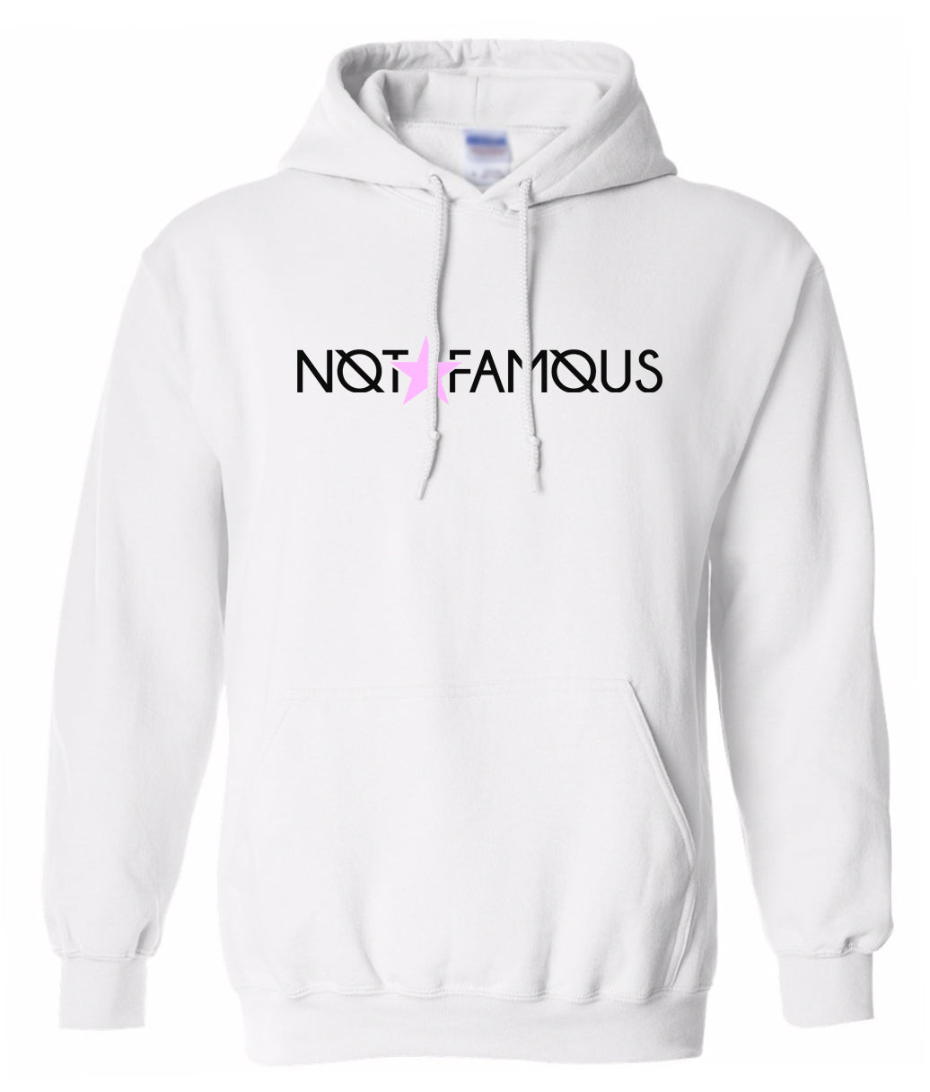 white not famous hoodie