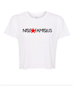 white not famous crop top t shirt