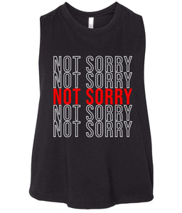 black not sorry cropped tank top