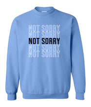 Load image into Gallery viewer, blue not sorry sweatshirt