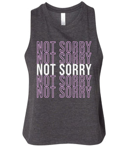 charcoal not sorry cropped tank top