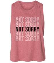 Load image into Gallery viewer, mauve not sorry cropped tank top