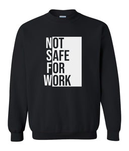 black nsfw sweatshirt