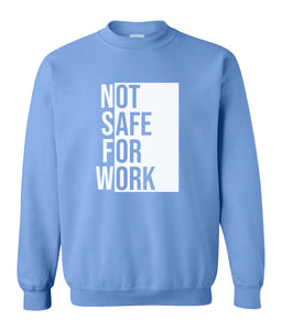 blue nsfw sweatshirt