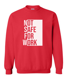 red nsfw sweatshirt