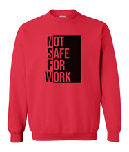 Load image into Gallery viewer, red NSFW sweatshirt