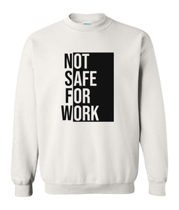 white nsfw sweatshirt