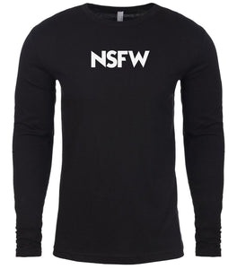black nsfw mens long sleeve shirt
