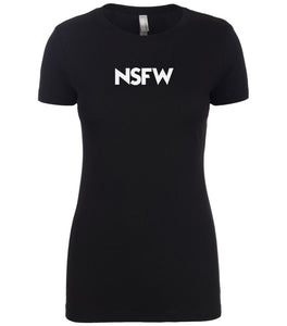 black nsfw womens crewneck t shirt