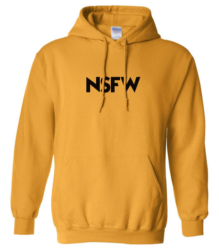 yellow nsfw mens pullover hoodie