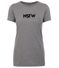 Load image into Gallery viewer, grey nsfw womens crewneck t shirt