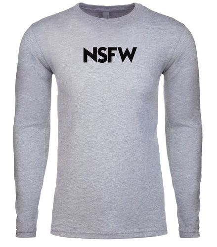 grey nsfw mens long sleeve shirt