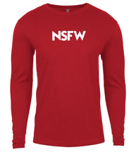 Load image into Gallery viewer, red nsfw mens long sleeve shirt