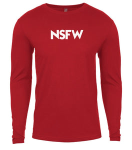 red nsfw mens long sleeve shirt