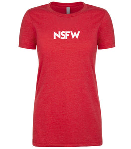 red nsfw womens crewneck t shirt