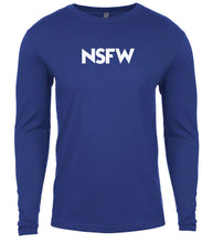 Load image into Gallery viewer, blue nsfw mens long sleeve shirt