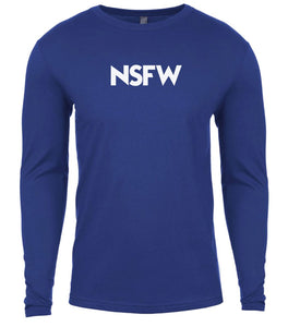 blue nsfw mens long sleeve shirt