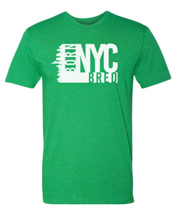 green NYC born and bred t-shirt