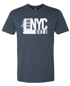 navy NYC born and bred t-shirt
