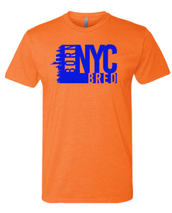 orange NYC born and bred t-shirt