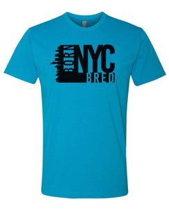 turquoise NYC born and bred t-shirt