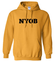 Load image into Gallery viewer, yellow nyob mens pullover hoodie