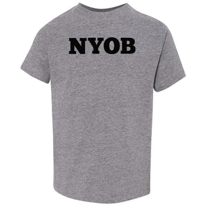 grey NYOB crewneck t shirt for toddlers