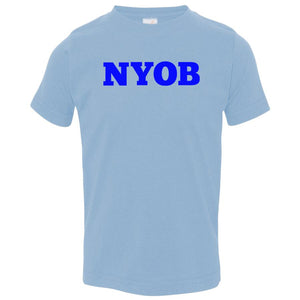 blue NYOB crewneck t shirt for toddlers