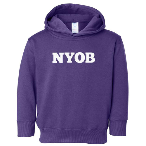 purple NYOB hooded sweatshirt for toddlers