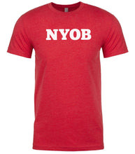Load image into Gallery viewer, red nyob mens crewneck t shirt